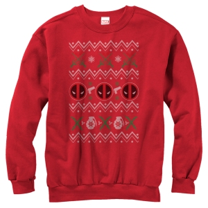 You'll see a few of these Deadpool sweaters on this post. This one is quite minimal compared to the others.