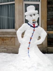 However, don't expect snow Lincoln to emancipate you from any snowstorms this year. Still, this is a great likeness.