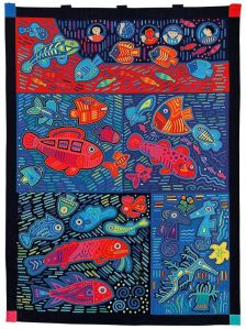 This one is also quite stylized. But it's quite a cool quilt to look at. Love it.