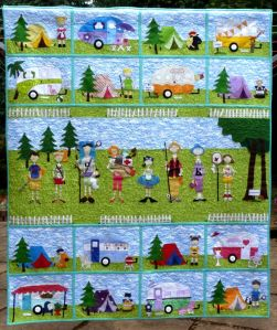 And yes, this is a camping quilt. Love the camping shelter and campers.