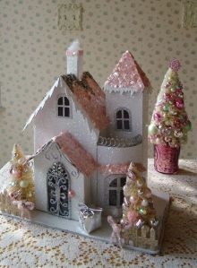 This one has a jeweled decoration with golden Christmas trees. Had to include it.