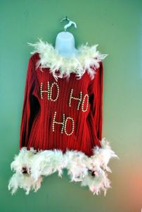 "Well, we all know the word ""ho"" can have more inappropriate connotations. But you can't help but like the feathers."