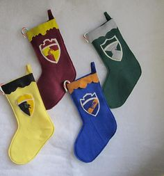 Wonder if any of the students have stockings like these at Hogwarts. Wouldn't be surprised.