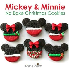 Each of these is decorated in a respective fashion. Be sure to use small Oreos for the ears.