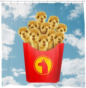 Well, they're llamas in a French fry container. I know it doesn't make sense but it's pretty funny.
