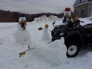 Well, I did a hit and run snowman scene before. Still, this is kind of crazy but funny.