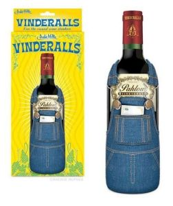 You guessed it, overalls for wine bottles. Even has a pocket for a special message. As if you can't just give the bottle with a special message already. This is stupid.