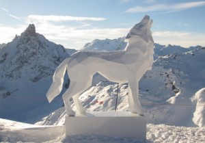 Well, this wolf is in a more geometric carving design. But it's still quite a sight to be seen.