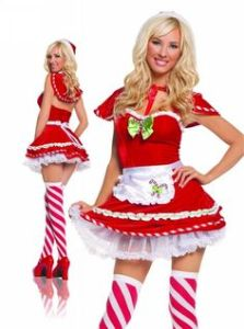 Actually, I'm not sure if it's even a Mrs. Claus outfit. But it includes an apron and it's unique. So it goes on this post.