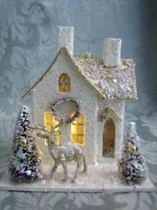 This one even has a golden wreath, roof, and reindeer. Still, what's not to love?