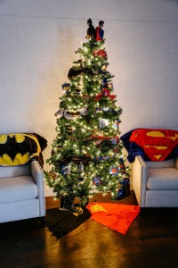 Also works if you can't decide between a Batman and Superman Christmas tree. Still, it fits in with the movie.