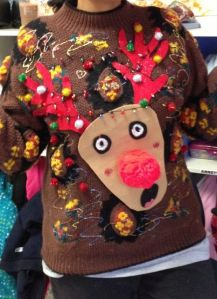 Yeah, I don't think Rudolph would appreciate having lights on him. Might be a hindrance to his job.