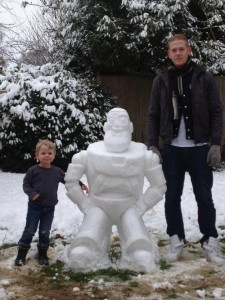 Now that's a really good Buzz Lightyear. Hope he knows that he's a toy snowman and not something else.