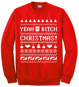 Breaking Bad fans, I hope this Christmas sweater can suit your fancy. Still, not in front of the kids.