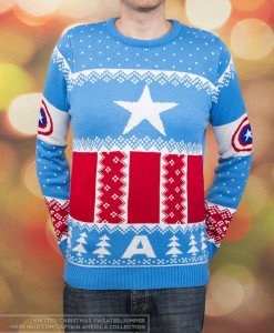 This one is light blue with patriotic designs. Just as Captain America intended.