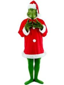 After all, SantaCon isn't a kind of event that makes Christmas look good. So a Grinch costume is perfect.