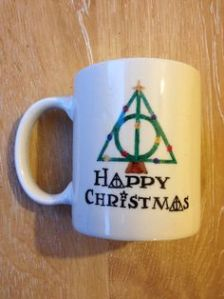 It has the Deathly Hallows symbol as a Christmas tree. That has to be bloody brilliant as Ron would say.