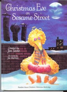 Looking at the cover on this book, it doesn't seem that Christmas on Sesame Street is a cheery occasion. Also, Big Bird seems quite depressed.