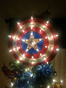 It even lights up. I'm sure any Cap fan would treasure it on their tree.