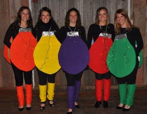 Well, these seem to be simple costumes. But when one goes out, they all go.