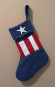 This one has a star and stripes like Captain America's shield. Still, if there's anyone in the Avengers who should get something for Christmas, it's Cap.