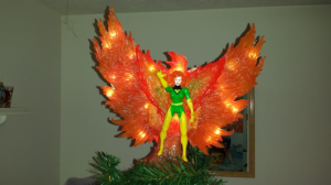 This one also lights up a well. And it has Jean Grey in front of the phoenix to demonstrate her power.