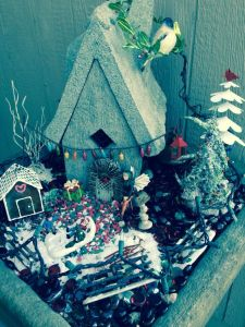 This one even has a gingerbread house as well as fairies in the snow. So lovely.