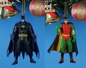 Well, at least they have the Batman in his black batsuit. The Robin one doesn't look bad either. Brought to you from Hallmark.