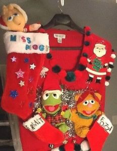 Like how this one has Miss Piggy in her own stocking which is larger than Fozzie and Kermit's. Then again, it's understandable.
