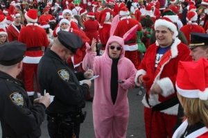 Yes, these events are known for a lot of drunk and disorderly conduct. But the Ralphie bunny suit costume is priceless.