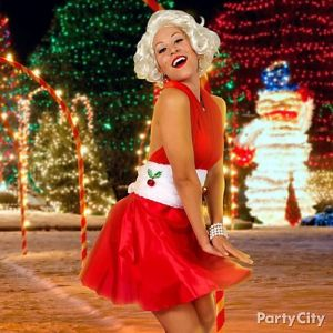 Well, she does look like Marilyn Monroe. But she doesn't seem to have mistletoe on her though.