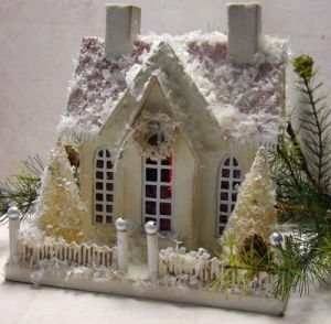 It helps that it has decorations that go with its color. Like the 2 chimneys and snow roof.