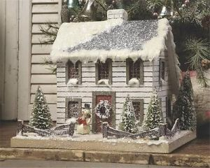 This one has a rather simple style with a snow capped roof. Love the decor on the bottom though.