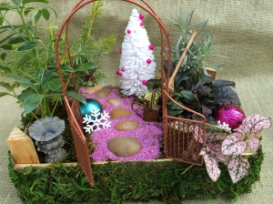 It even has a pink trail as well as purple baubles. Certainly to brighten your season with cheer.
