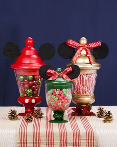 Well, 2 of them have bows on the top. So you can't say they're necessarily Mickey jars. But all have the ears.
