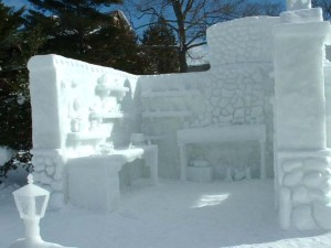 Okay, it's made out of snow and won't make you warm or cozy. But it has a lot of great artistic detail.