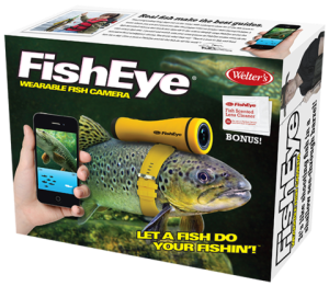 Let a fish do the fishing for you and it's great on land, too. This is a actually prank gift that's making fun of the wildlife cameras they use on nature shows.