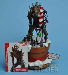 However, this Groot seems scarier than he does in Guardians of the Galaxy. But at least he's helping with Christmas lights.