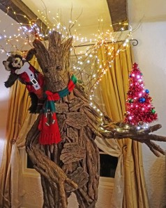 This one has Rocket in a Santa suit and Groot wearing a scarf. Love this.