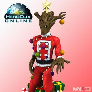I know this doesn't look anywhere near Groot from the movie. But you have to like how he's in Santa suit and wears ornaments.