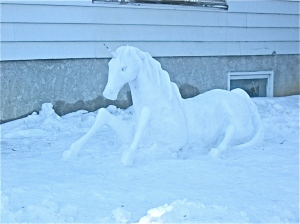 This one was made in someone's yard. And it's topped with an ice horn for good measure.