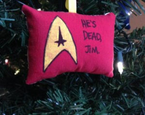This is especially the case with red shirts. And explains why this ornament pillow is red.