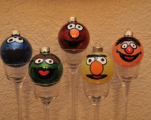 Includes Cookie Monster, Oscar, Elmo, Bert, and Ernie. Available on Etsy.
