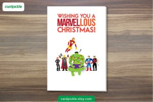Because they're from Marvel Comics. Not sure if you'd want to put Christmas lights on the Hulk.