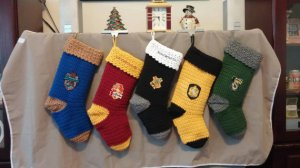 Aside from the black Hogwarts one, each stocking represents a house. Choose the one that suits you best.