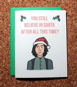 I'm not sure if he even does because I have a hard time picturing it. But this is a good card.