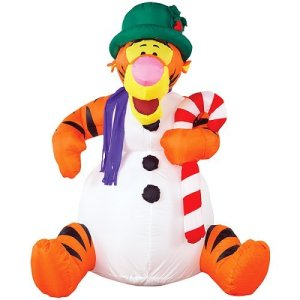 Is Tigger in that snowman? Might want to get him out before he contacts hypothermia.