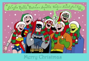 "Then again, they are making fun of him with the ""Jingle Bells"" song. But when did Batman display any sense of humor?"