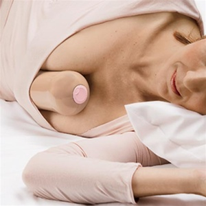 "From Cracked: ""Luckily, one plucky mammary researcher is fighting the impending boobocalypse with the Kush Support Breast Separator, a piece of in-no-way-phallic plastic that can be stuck between the breasts to prevent undue contact."" Seriously, a breast separator? Does any woman need that? Thought so."