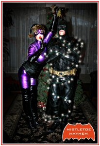 Because it may not end well. Neither is Catwoman entrusting Batman to help with the Christmas lights as you see here.